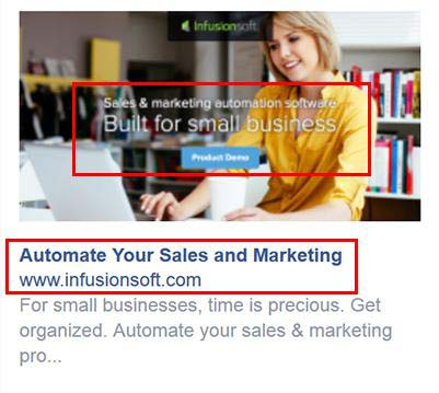 Example facebook retargeting ad