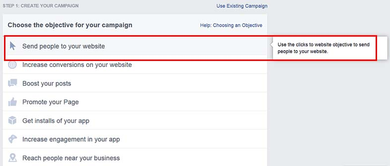 Create your first retargeting campaign