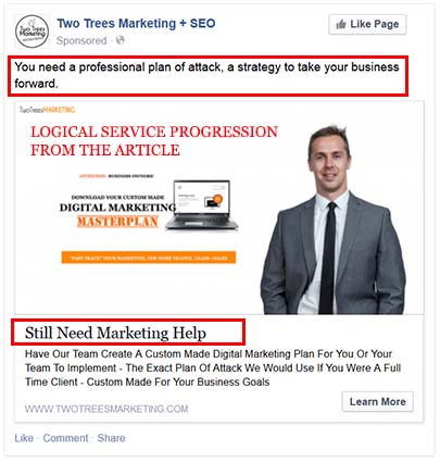 set up retargeting on facebook and design your ads